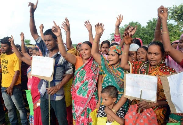 Protesters against NRC